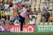 Paul Stirling of Middlesex bowling during the Vitality T20 Blast South Group match between Hampshire County Cricket Club and Middlesex County Cricket Club at the Ageas Bowl, Southampton, United Kingdom on 20 July 2018. Picture by Dave Vokes.
