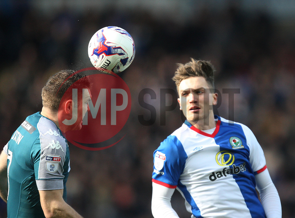 Jake Buxton of Wigan Athletic (L) and Sam Gallagher of Blackburn Rovers in action - Mandatory by-line: Jack Phillips/JMP - 04/03/2017 - FOOTBALL - Ewood Park - Blackburn, England - Blackburn Rovers v Wigan Athletic - Football League Championship