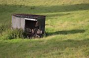 Dilapidated structure in a field near Castle Kennedy, Scotland