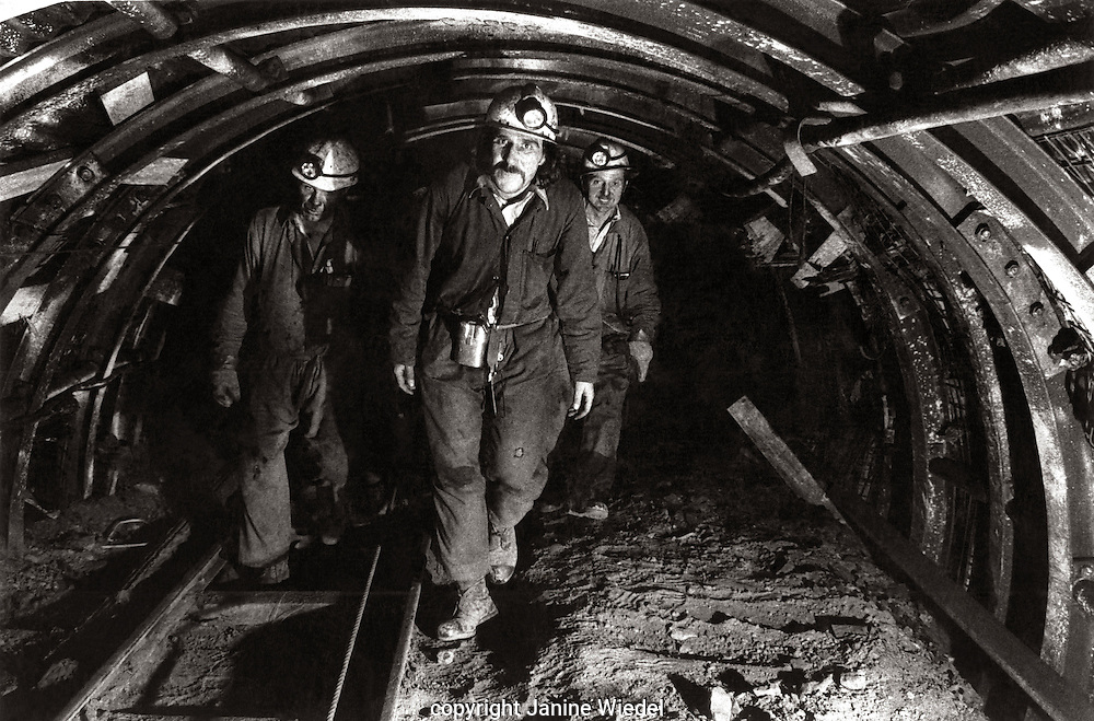 Along the roadway to the face Littleton Colliery Staffordshire. 1970's