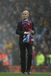 Michael Bradley of Aston Villa greets fans before the Barclays Premier League match between Aston Villa and Fulham at Villa Park on February 5, 2011 in Birmingham, England.