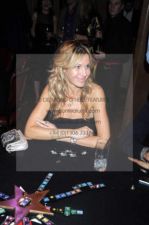 MELISSA ODABASH at a party to celebrate the launch of Hollywood Domino - a brand new board game, held at Mosimann's 11b West Halkin Street, London on 7th November 2008.  The evening was in aid of Charlize Theron's Africa Outreach Project.