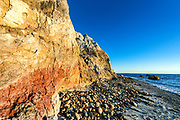 Moshup beach and clay cliffs, Aquinnah, Martha's Vineyard, Massachusetts,, USA.