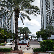SUNNY ISLES BEACH, FL - OCTOBER 25, 2016:<br /> The Trump Royale and Trump Palace buildings in Sunny Isles Beach. Russian realtors like Roman Brokeria have tapped into the Russian speaking customer base for Trump properties. (Photo by Angel Valentin/For The Washington Post)