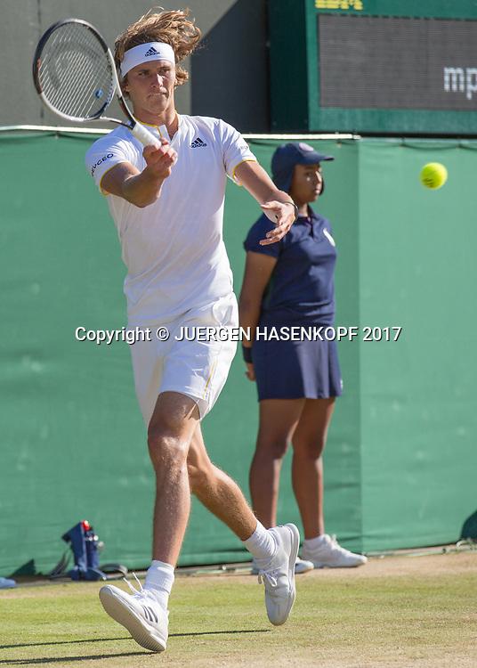 ALEXANDER ZVEREV (GER)<br /> <br /> Tennis - Wimbledon 2017 - Grand Slam ITF / ATP / WTA -  AELTC - London -  - Great Britain  - 8 July 2017.