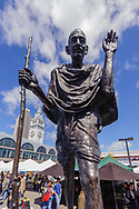 Ferry Plaza Farmers Market, San Francisco, California, Gandhi Statue at Ferry Building, Embarcadero