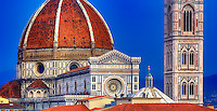 """Panoramic rooftop view of the Santa Maria del Fiore Basilica""…<br />