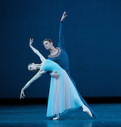 Serenade<br /> The Royal Ballet <br /> at the Royal Opera House Covent Garden London Great Britain<br /> Full rehearsal<br /> 27th October 2008 <br /> <br /> Serenade<br /> Choreography by George Balanchine<br /> <br /> Rupert Pennefather<br /> Marianela Nunez<br /> Valeri Hristov<br /> Mara Galeazzi <br /> Photograph by Elliott Franks