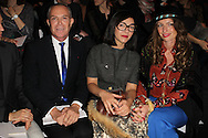 PARIS, FRANCE - MARCH 06: Jean-Claude Jitrois, Sylvie Hoarau and Aurelie Saada of the Brigitte Band attend the Paco Rabanne Ready-To-Wear Fall/Winter 2012 show as part of Paris Fashion Week at Espace Pierre Cardin-Grand Palais on March 6, 2012 in Paris, France.  (Photo by Tony Barson/WireImage)