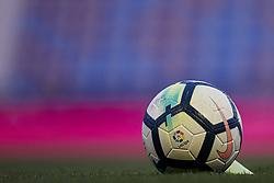 April 19, 2018 - Valencia, Valencia, Spain - Official ball of La Liga during the La Liga game between Levante UD and Malaga CF at Ciutat de Valencia on April 19, 2018 in Valencia, Spain  (Credit Image: © David Aliaga/NurPhoto via ZUMA Press)
