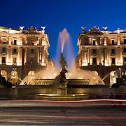 Fountain, Piazza della Repubblica, Rome, Italy