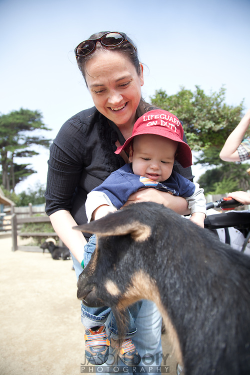 Nico's first trip to the SF zoo with his cousin Micah Addleman and Aunt Danielle..photo by Jason Doiy