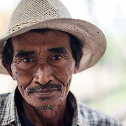 Man in Batu village, Java, Indonesia