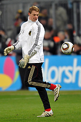 03.03.2010, Allianz Arena Muenchen, Muenchen, GER,  Laenderspiel Deutschland ( GER ) - Argentinien ( ARG ) 0 - 1. Im Bild Manuel Neuer ( GER / Schalke #12 ) vor dem Spiel. EXPA Pictures © 2010, PhotoCredit: EXPA/ nph/  Kurth / for Slovenia SPORTIDA PHOTO AGENCY.