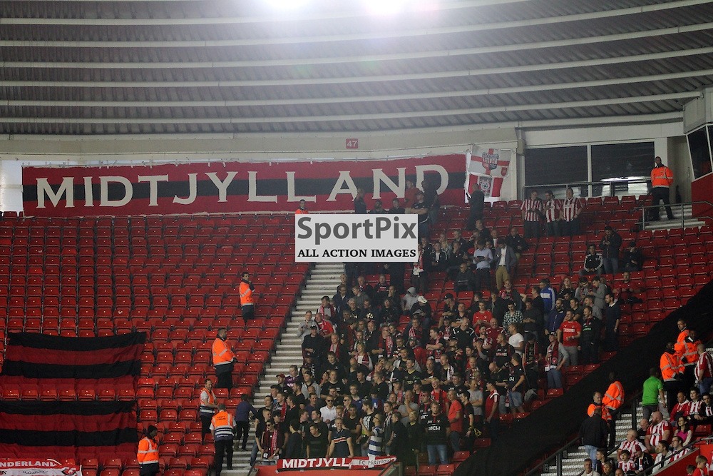The FC Midjtylland fans During Southampton FC vs Fc Midtjylland on Thursday the 20th August 2015.