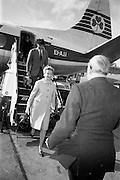 "23/05/1966<br /> 05/23/1966<br /> 23 May 1966<br /> Deborah Kerr arrives at Dublin Airport for filming of the James Bond film ""Casino Royale"", to be directed by John Houston due to start shooting at Ardmore Studios and Co. Wicklow."
