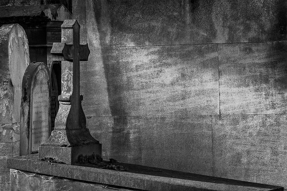 Light on the Cross, Pere Lachaise, Paris, France