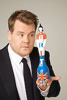 James Cordon Photo Shoot with Sir Peter Blake Styled Trophy.Wednesday, Dec.7. 2011