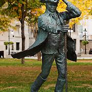 Bronze statue of James McGill, McGill University Campus, Montreal, Quebec, Canada