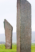 Standing Stones of Stenness, a Neolithic stone circle dating from 3100BC, Orkney Islands Scotland