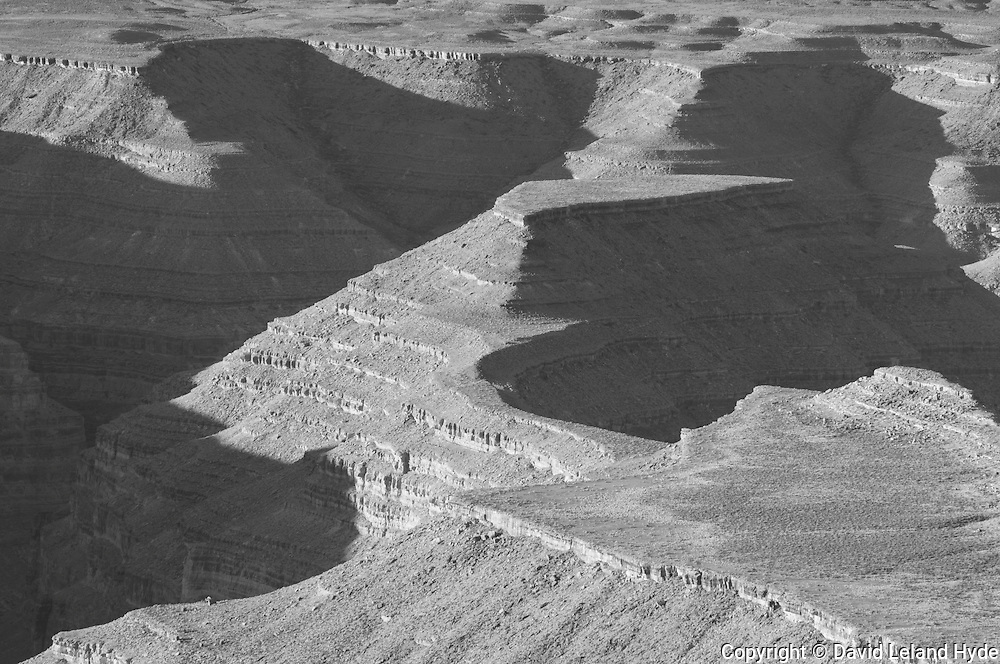 San Juan River Canyons, Muley Point Overlook, Mexican Hat, Utah Canyons, Southwest Desert, abstract photography, morning sun, light and shadow