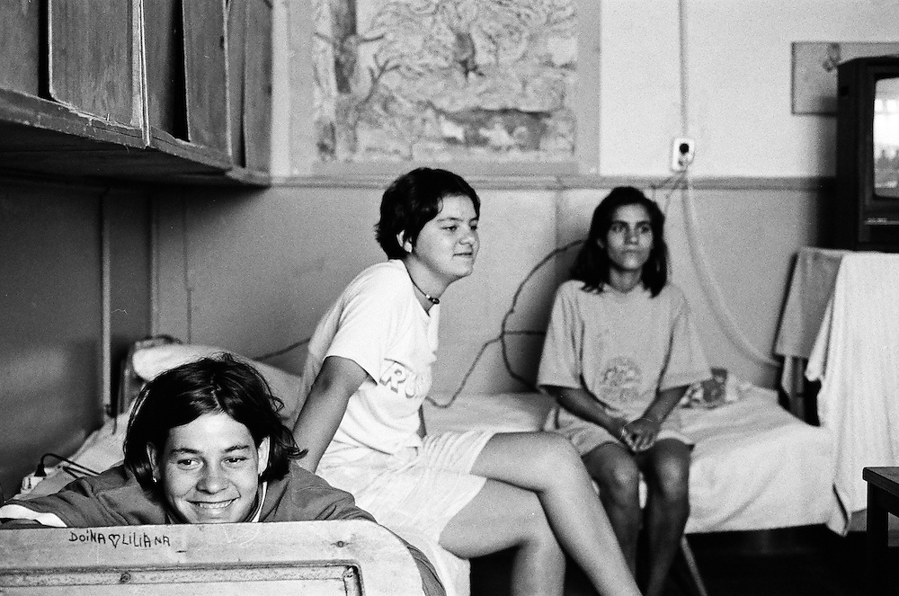 Liliana Condrea at the orphanage of Popricani when she was 16 in 1997