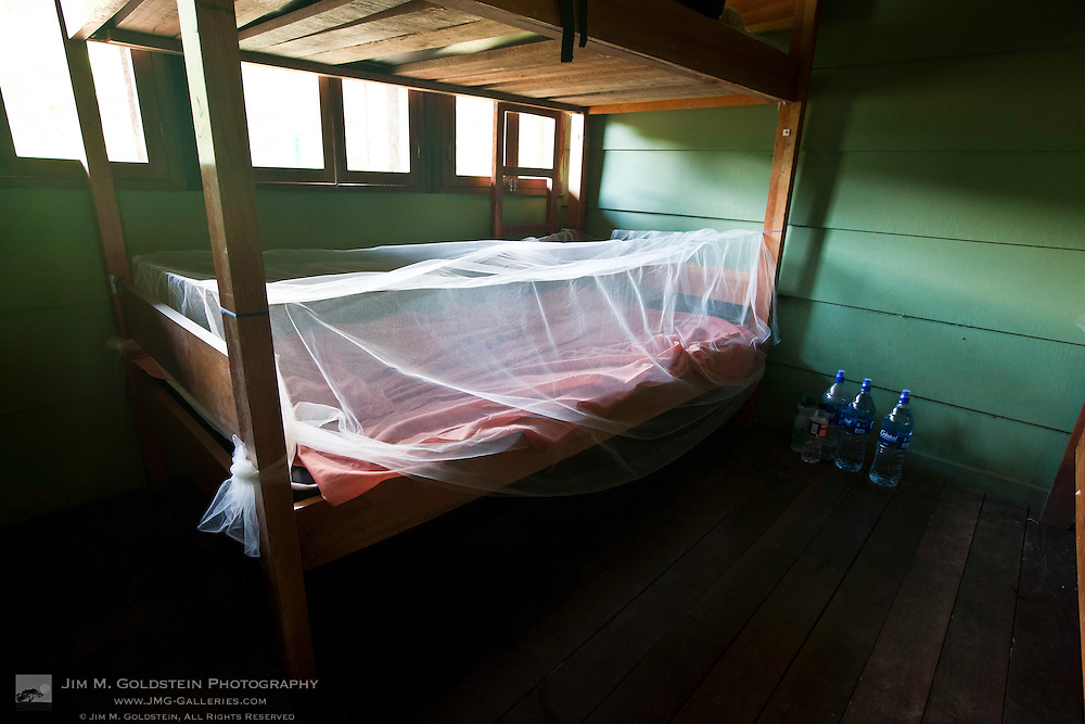 Bunk Bed with mosquito Net in a reserved room at Sirena Biological Station - Corcovado National Park, Costa Rica