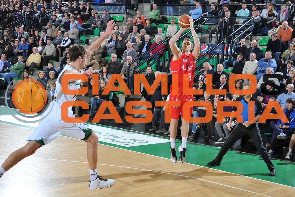 DESCRIZIONE : Treviso Lega A 2010-11 Benetton Treviso Armani Jeans Milano<br /> GIOCATORE : Niccolo Melli<br /> SQUADRA : Armani Jeans Milano<br /> EVENTO : Campionato Lega A 2010-2011 <br /> GARA : Benetton Treviso Armani Jeans Milano<br /> DATA : 29/01/2011<br /> CATEGORIA : Tiro Three Points<br /> SPORT : Pallacanestro <br /> AUTORE : Agenzia Ciamillo-Castoria/M.Gregolin<br /> Galleria : Lega Basket A 2010-2011 <br /> Fotonotizia : Treviso Lega A 2010-11 Benetton Armani Jeans Milano<br /> Predefinita :