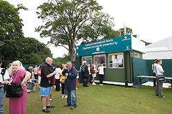 Liverpool, England - Tuesday, June 12, 2007: The box office for the Liverpool International Tennis Tournament at Calderstones Park. For more information visit www.liverpooltennis.co.uk. (Pic by David Rawcliffe/Propaganda)