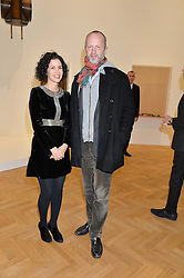 MOLLIE DENT-BROCKLEHURST and JOHNNIE SHAND-KYDD at the opening private view of 'A Strong Sweet Smell of Incense - A portrait of Robert Fraser, held at the Pace Gallery, Burlington Gardens, London on 5th February 2015.