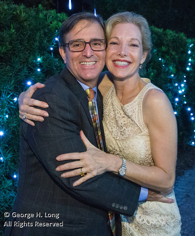 George Long and Gia Rabito at Magic in the Moonlight 2015 benefit for the New Orleans Botanical Garden in City Park; photo by Tony Geldreman