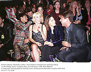 Nathan Moore, Michelle Collins, Tara Palmer-Tompkinson and Sean Borg at the Philip Treacy fashion show. 22 Februaary 1998. film 9864f32<br />© Copyright Photograph by Dafydd Jones<br />66 Stockwell Park Rd. London SW9 0DA<br />Tel 0171 733 0108