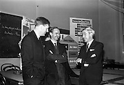 10/11/1964<br /> 11/10/1964<br /> 10 November 1964<br /> <br /> Mr. Peter Owens(Right) addressing the business administration school