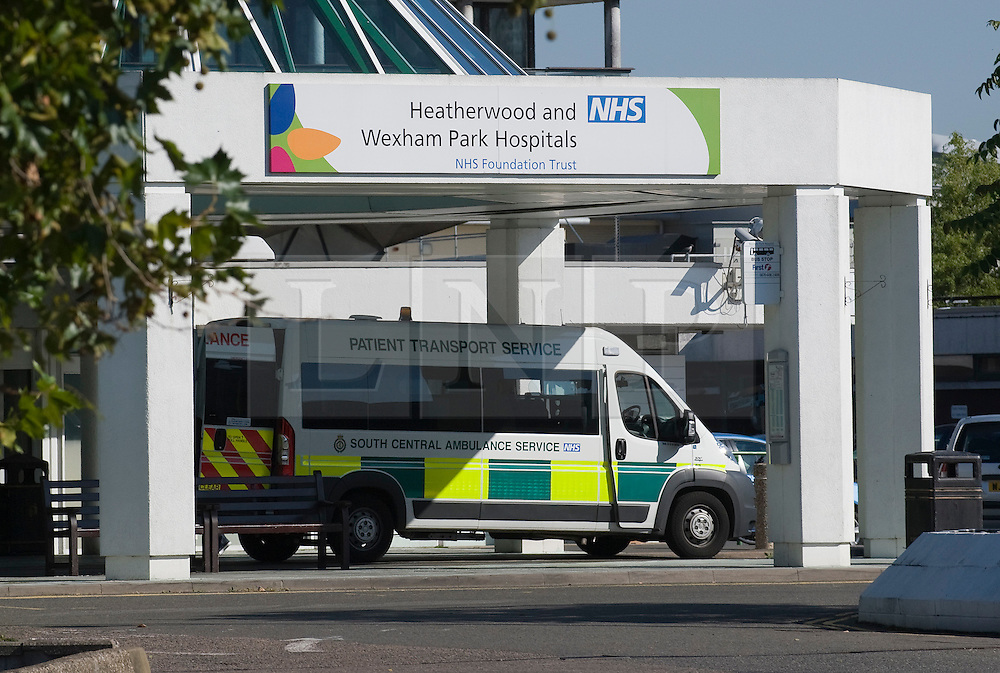 © Licensed to London News Pictures. 28/09/2011. Slough, UK. Wexham Park Hospital in Slough, Berkshire which is under investigation following the unexpected deaths of three people in one month. All three patients were admitted to the emergency department at Wexham Park Hospital in August 2011. One died in the department while the others died after being transferred to other wards. Photo credit: Ben Cawthra