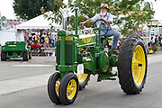 Vintage Tractor (1936 John Deere) at the Indiana State Fair, Indianapolis, Indiana, USA