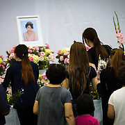OKINAWA, JAPAN - JUNE 17 : People of Okinawa offer flowers and prayers for rape victim Rina Shimabukuro which was held in Okunai-Undojo Gym, Nago, Okinawa prefecture on June 17, 2016. Kenneth Franklin Shinzato, a 32-year-old former U.S. Marine employed by Kadena Air Base, was arrested on dumping the woman's body in Onna, Okinawa Prefecture. Photo Richard A. de Guzman