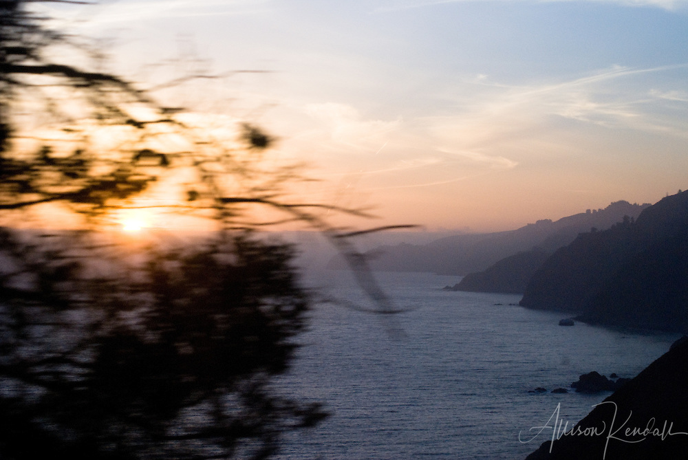 Racing the sunset to our campsite deep in the heart of Big Sur