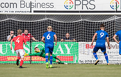 RHYL, WALES - Saturday, September 2, 2017: Iceland's Stefan Alexander Ljubicic scores a penalty during an Under-19 international friendly match between Wales and Iceland at Belle Vue. (Pic by Gavin Trafford/Propaganda)
