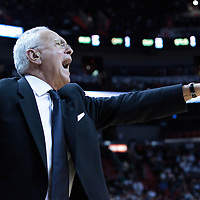 19 November 2010: Charlotte Bobcats head coach Larry Brown yells during the Miami Heat 95-87 victory over the Charlotte Bobcats at the AmericanAirlines Arena, Miami, Florida, USA.