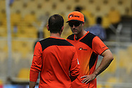 Perth Scorchers captain Simon Katich during the warm session of  match 4 of the Karbonn Smart Champions League T20 (CLT20) 2013  between The Highveld Lions and the Perth Scorchers held at the Sardar Patel Stadium, Ahmedabad on the 23rd September 2013<br /> <br /> Photo by Vipin Pawar-CLT20-SPORTZPICS  <br /> <br /> Use of this image is subject to the terms and conditions as outlined by the CLT20. These terms can be found by following this link:<br /> <br /> http://sportzpics.photoshelter.com/image/I0000NmDchxxGVv4