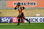 Cambridge United striker Jabo Ibehre (14) scores a goal and celebrates 1-0 during the EFL Sky Bet League 2 match between Cambridge United and Coventry City at the Cambs Glass Stadium, Cambridge, England on 16 September 2017. Photo by Dennis Goodwin.