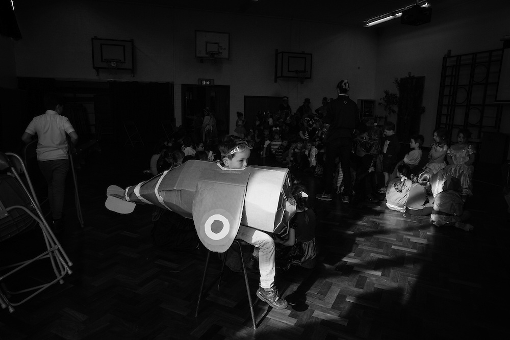 Child wears cardboard airplane for World Book day at School in Berkhamsted , England Thursday, March 3, 2016 (Elizabeth Dalziel) #thesecretlifeofmothers #bringinguptheboys #dailylife