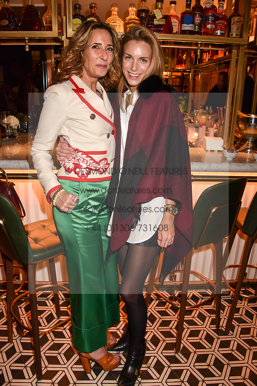 Left to right, Tara Bernerd and Victoria Aspinall at a party to celebrate the publication of Place by Tara Bernerd held at il Pampero at The Hari, 20 Chesham Place, London, England. 8 March 2017.