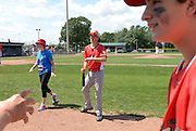 Opening day baseball action at the International Children's Games in Windsor, Ontario.