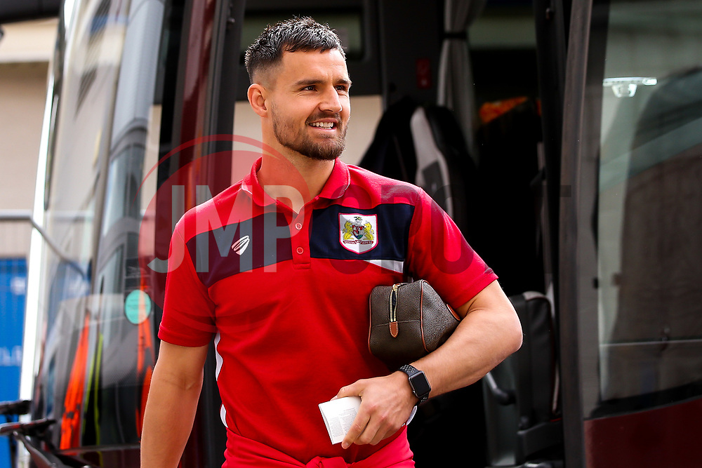 Bailey Wright of Bristol City arrives at Hull City - Mandatory by-line: Robbie Stephenson/JMP - 05/05/2019 - FOOTBALL - KCOM Stadium - Hull, England - Hull City v Bristol City - Sky Bet Championship