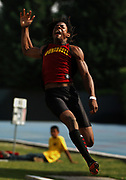Jun 2, 2006; Cerritos, CA, USA; Richard Sherman of  Dominguez High had the seventh-best qualifying mark in the ong jump at 23-2 3/4 in the CIF State championships at Cerritos College.
