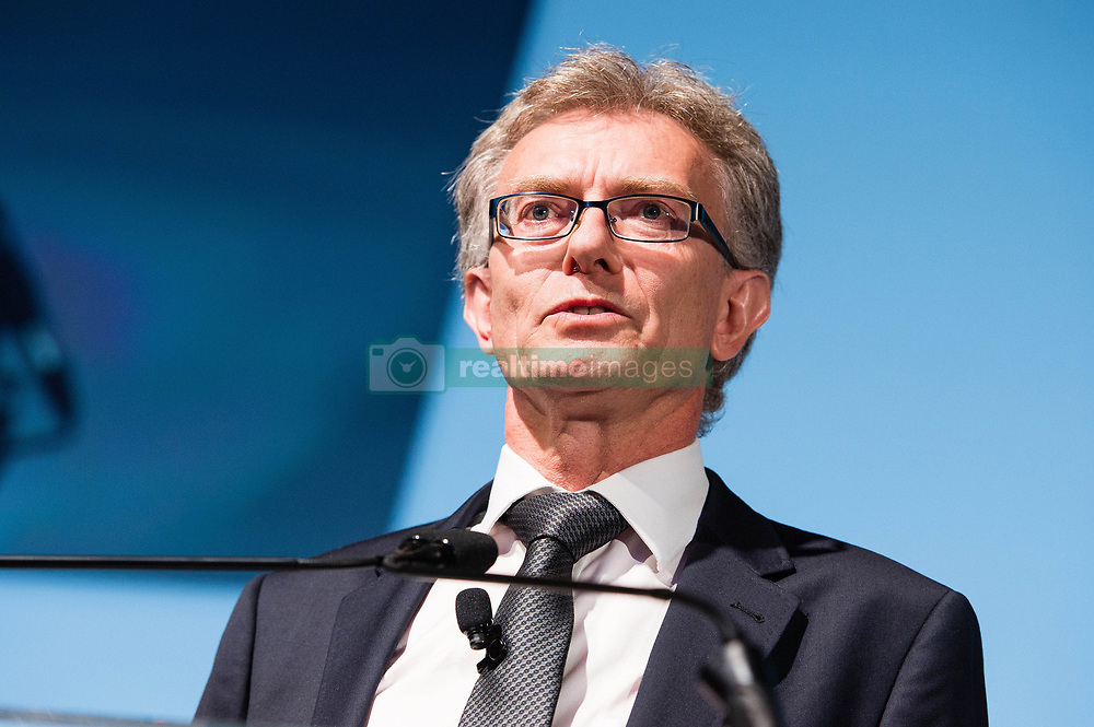 EDITORIAL USE ONLY<br /> Ian Howells, Senior VP, Honda Motor Europe, speaks at the Society of Motor Manufacturers and Traders (SMMT) International Automotive Summit conference at The Institute of Engineering and Technology in London.