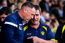 Burton Albion manager Nigel Clough and Bristol Rovers manager Graham Coughlan - Mandatory by-line: Robbie Stephenson/JMP - 31/08/2019 - FOOTBALL - Pirelli Stadium - Burton upon Trent, England - Burton Albion v Bristol Rovers - Sky Bet League One