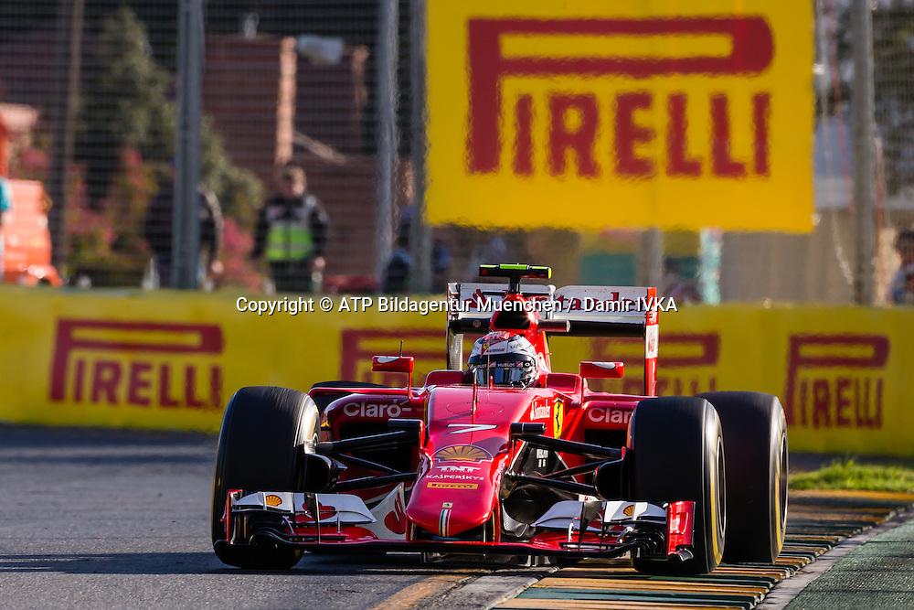Kimi R&auml;ikk&ouml;nen, (RAIKKONEN), FIN, Team Scuderia Ferrari, Ferrari SF15T, <br /> AUSTRALIAN Formula One Grand Prix 2015, Albert Park  - <br /> Formel 1 Rennen in Australien, Motorsport, F1 GP, 13.03. Honorarpflichtiges Foto, Fee liable image, <br /> Copyright &copy; ATP Damir IVKA