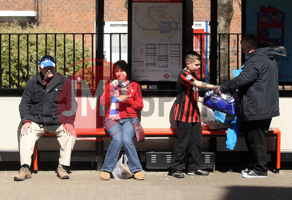 QPR fans - Photo mandatory by-line: Robbie Stephenson/JMP - Mobile: 07966 386802 - 12/04/2015 - SPORT - Football - London - Loftus Road - Queens Park Rangers v Chelsea - Barclays Premier League